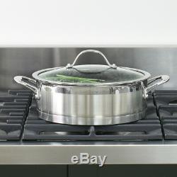 Batterie De Cuisine À Induction En Acier Inoxydable Procook Professional, 8 Pièces
