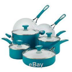 Batterie De Cuisine Antiadhésive 12 Pièces En Céramique CXI Silverstone, Bleu Marine 16048
