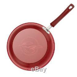 Batterie De Cuisine Antiadhésives Rouge Revêtement Céramique 12 Pièces Pots Pans De Cuisine Cuisine