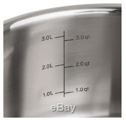 Batterie De Cuisine En Acier Inoxydable 13 Pièces Viking Tri-ply