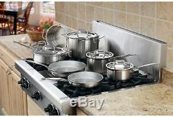 Batterie De Cuisine En Acier Inoxydable Cuisinart Set De Cuisine Casseroles Et Poêles 12 Pièces Triply
