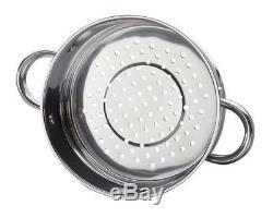 Batterie De Cuisine En Acier Inoxydable Pour Casseroles De Cuisson En Acier Inoxydable Non Toxique, 10 Pièces