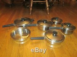 Batterie De Cuisine En Acier Inoxydable Vintage Royal Prestige De 11 Pièces Par Ekco, Etats-unis