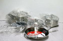 Batterie De Cuisine Fissler Classic 8 Pièces En Acier Inoxydable # 617
