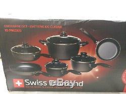 Batterie De Cuisine Swiss Diamond 10 Pièces Batterie De Cuisine Antiadhésifs Set