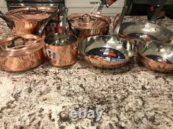 Baumalu Copper Cookware 10 Piece Pot, Pan, LID And Skillet Set Toute Nouvelle Cuisine