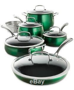 Belgique Aluminium 11 Pièces Batterie De Cuisine Antiadhésives Ensemble Nouvelle Forme Verte De Bell Pots & Pan