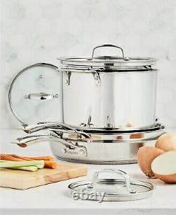 Belgique Cuisine En Acier Inoxydable De 10 Pièces Nouveau Ensemble Empilable Pots & Pans