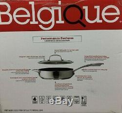 Belgique Neuf Dans L'emballage 299 $ Batterie De Cuisine En Acier Inoxydable, 11 Pièces, Couvercles En Verre Sc