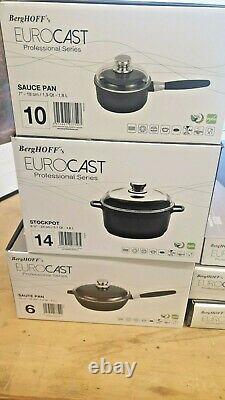 Berghoff Professional Series Eurocast 9 Piece Cookware Set Induction Antiadhésive+
