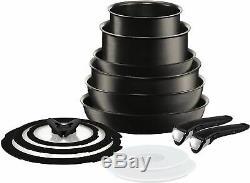 Brand New Tefal L6509042 Ingenio Expertise Antiadhésif Batterie De Cuisine 13 Pièces Noir