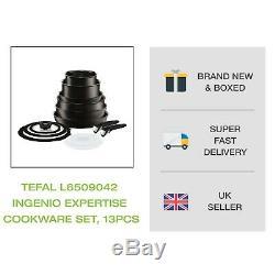 Brand New Tefal L6509042 Ingenio Expertise Batterie De Cuisine, 13 Pièces Noir