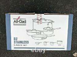 Brand New Tous Les Produits De Cuisine En Acier Inoxydable D3 18/10 7 Pièces