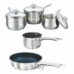 Buckingham 5 Pièces À Induction Saucepan Cuisinière Pot Pan Set Couvercle En Acier Inoxydable