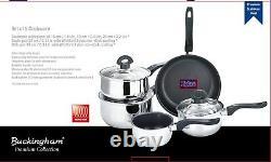 Buckingham Induction 5 Pièces Pan Set Saucepan Set Cuisinière Pot En Acier Inoxydable