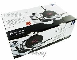 Buckingham Induction 5 Pièces Saucepan Set Cuisinière Pot Pan Set Acier Inoxydable