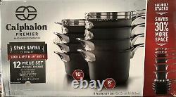 Calphalon 1348304 Premier Anodisé Espace Saving Batterie De Cuisine 12 Pièces