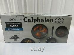 Calphalon 14 Piece Hard Anodized Nonstick Cookware Set 2046319 Noir