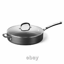 Calphalon Antistick Cookware Frying Pan Pots Set, Acier Inoxydable Plus Dur 10 Pièces