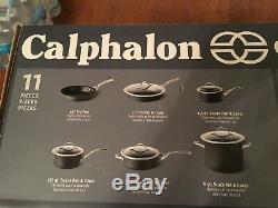 Calphalon Batterie De Cuisine Contemporaine Antiadhésive Casseroles Poêles Pan Calphalon 11 Pièces