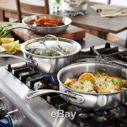 Calphalon Batterie De Cuisine Couvercles Lave-vaisselle Tri-ply En Acier Inoxydable 8 Pièces