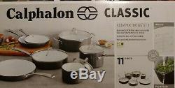 Calphalon Classique 11 Pièces En Céramique Batterie De Cuisine Antiadhésive Gris / Blanc (ry1)