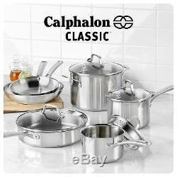 Calphalon Classique Batterie De Cuisine En Acier Inoxydable Ensemble 10 Pièces