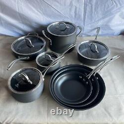 Calphalon Commercial Durability Hard Anodized Cookware Set 13 Piece New Open Box