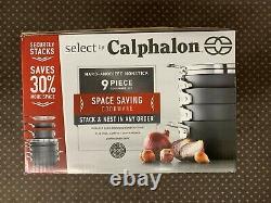 Calphalon Espace Économiser Dur Anodisé Ensemble De Cookware Antiadhésifs 9 Pièces