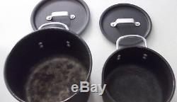 Calphalon Nonstick Aluminium Anodisé Dur 11 Pièces Gris Et Batterie De Cuisine Couvercles