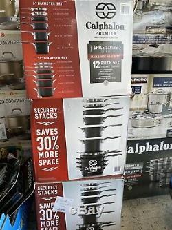Calphalon Premier 12 Pièces Anodisé Ensemble Aluminium Batterie De Cuisine