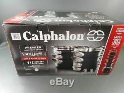 Calphalon Premier Anodisé Antiadhésives Espace D'économie Batterie De Cuisine 11 Pièces Utilisé