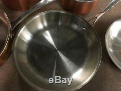 Calphalon T10 Tri-ply Cuivre / Acier Inoxydable 10 Pièces Batterie De Cuisine Brown Pre