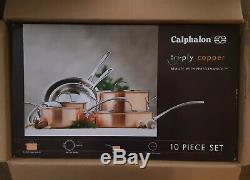 Calphalon Tri-ply De Cuivre Avec 10 Piece Cookware Set- Nouveau