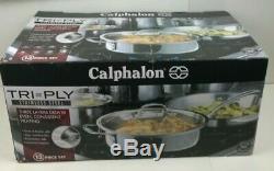 Calphalon Tri-ply En Acier Inoxydable 13 Pièces Batterie De Cuisine