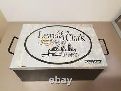 Camp Chef, Lewis Et Clark 3 Pièces, Fonte Complète Avec Boîte En Métal