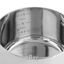 Casserole À Induction À 3 Épaisseurs Procook Casseroles À 3 Épaisseurs En Acier Inoxydable, 4 Pièces