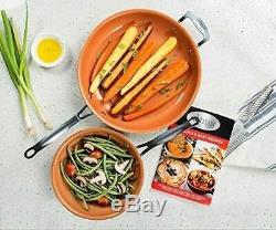 Casseroles Et Poêles De Cuisine En Cuivre Antiadhésif De 15 Pièces Pour La Cuisson À Domicile