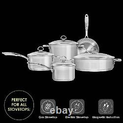 Chantal Induction 21 Stainless Steel 9 Piece Cookware Pot's Pan Set Slin-9 Nouveau