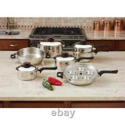 Chefs 17 Pièces T304 Steam Control Acier Inoxydable 7 Ply Kit D'articles De Cuisine