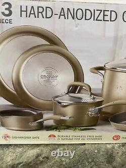 Circulon Bronze Premier Professional Ensemble De Produits De Cuisine Anodisé Dur De 13 Pièces