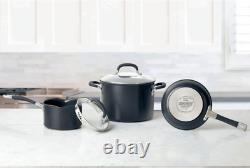 Circulon Premier Hard Anodised Induction 13 Piece Cookware Set In Black New