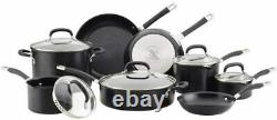 Circulon Premier Hard Anodized Induction Cookware Set Noir, 12 Pièces