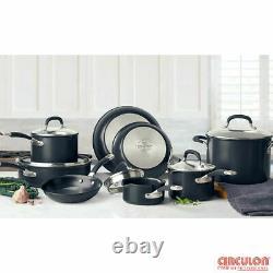 Circulon Premier Professional 13 Piece Hard Anodised Black Cookware Set Nouveau