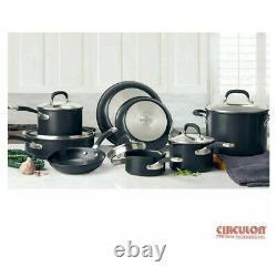 Circulon Premier Professional Hard Anodized Non Stick Cookware Set Noir 13 Pièce