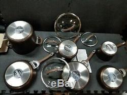 Circulon Symétrie Anodisé Batterie De Cuisine Antiadhésives, 10 Pièces, Chocolat
