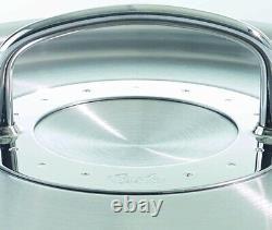 Collection Fissler Original-profi Cookware 9 Pièces Set Avec Couvercles En Acier Inoxydable