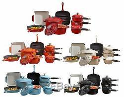 Cooks Professional Batterie De Cuisine En Fonte Pan Poêle Casserole Plat 3 5 8 Pièces