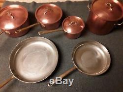 Copral Copper Pan Batterie De Cuisine 10 Pièces Vintage Portugal