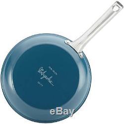 Crépuscule Teal 10 Pièces En Porcelaine Émaillée Batterie De Cuisine Antiadhésive Maison Cuisine